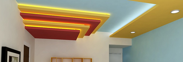 Types of  False Ceiling Designs & More.