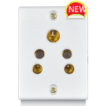 6A, 2 in 1 Socket, Urea Back piece (IP 20)