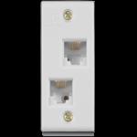 Tel jack double W/O shutter