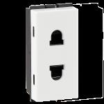 6A 2 pin shuttered socket