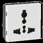 Universal shuttered socket