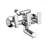 Wall mixer with telephonic shower arrangment