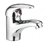 Single Lever Basin mixer with 450mm braided connection pipe (without pop-up)