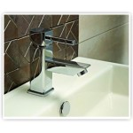 Single Lever Basin Mixer with 450mm Long Braided Hoses