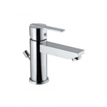 Single Lever Extended Basin Mixer (Height 95mm) with Popup Waste System with 450mm Long Braided Hoses