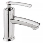 Single Lever Basin Mixer without Popup Waste & with Braided Hoses