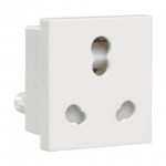Crabtree's ATHENA  6 A /16 A 3 Pin Shuttered Socket with ISI Marking (Anti-Viral) (White)
