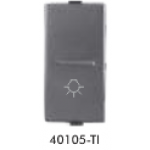 GreatWhite - 10AX 1 way switch with LIGHT MARK - Titanium