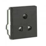 6A 3 Pin Shuttred Socket with ISI marking