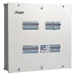 IP30 Single Door DBs (Incomer plus Outgoing Modules) - 12 Way, 8 plus 36 Modules