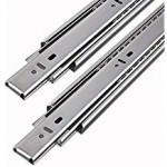 Genric Hettich-T-C Steel 500mm Telescopic Ball Bearing Drawer Channel (Silver)