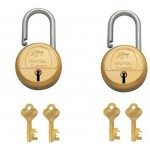 Godrej's 6 Levers - Long Shackle (2 keys)