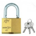Godrej's 40 mm Pin Cylinder Solid Brass - 3 Keys