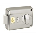 Godrej's Premium Night Latch - Brushed Steel (Outside Opening)