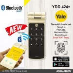 Yale Digital Door Lock with Biometric, Bluetooth, PIN Code and Mechanical Key Steel Rim Lock (Standard Size, Black