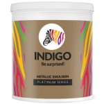 Indigo Paints - Metallic Emulsion - Platinum Series - 10 Ltrs