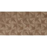 Qutone Karnis Brown Arrow Decor Wall Tile -  600mm x 300mm