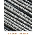 SS Gold TMT Bar Fe-500 Grade - 8mm