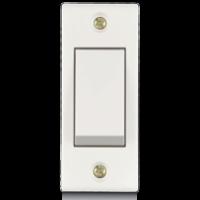 6A, 1 way switch, Urea Back Piece (IP 20)