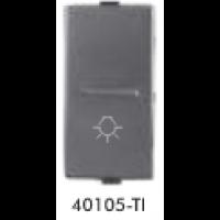 GreatWhite - 10AX 1 way switch with LIGHT MARK - Titanium