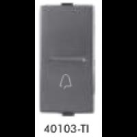 GreatWhite - 10ABell Push Switch - Titanium