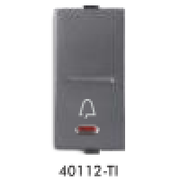 GreatWhite - 10ABell Push Switch with LED - Titanium