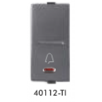 GreatWhite - 10A Bell Push Switch with LED - White