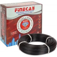 FR PVC Insulated Unsheathed single core Cable of 1100 Volts - 1.5 Sq.mm + 28/0.30 (90Mtr)