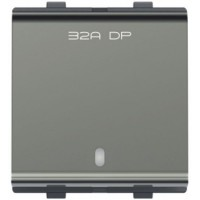 F-61 32A. DP. Switch with Indicator - Moon white