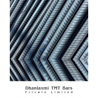 Fe-550 Grade Dhanlaxmi TMT Bar- 8mm