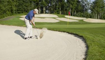 Silica sand in bunkers (golf courses)