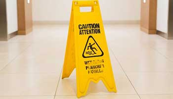 Marble floors are slippery especially after being polished