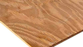 Plywood is usually coated with a fire resistant chemical adhesive