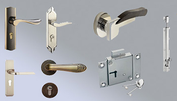 Electrical fittings, door handles and window latches are all fixtures inside a building
