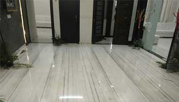 Marble floors give a luxurious appearance to any building