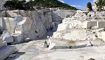 Marble stone is extracted from the earth's surface