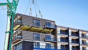 Prefabrication helps avoid on-site delays such as bad weather conditions, etc