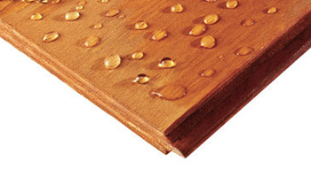 Plywood shows resistance to moisture making it suitable for exteriors