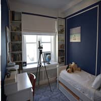 Benjamin Moore Downpour Blue example