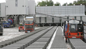 Manufacturing of Concrete Blocks with machines