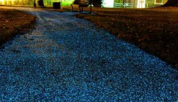 Light Emitting Cement - Blue Pathway