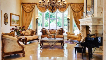 Living room with a variety of decorative collection