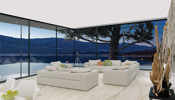 Living room with outside view