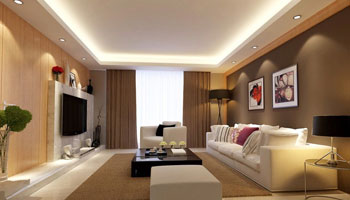 Lighting example in a living room