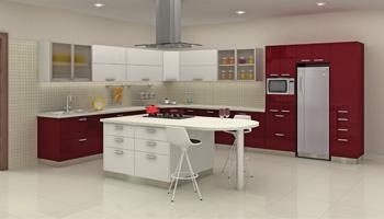 Layout of modular kitchen