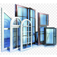 Plastic doors and windows in construction