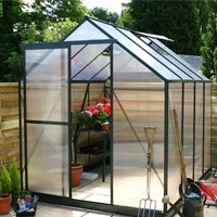 Greenhouse made with plastic