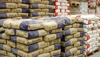 Stacks of Cement Bags