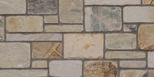 Ashlar block in course
