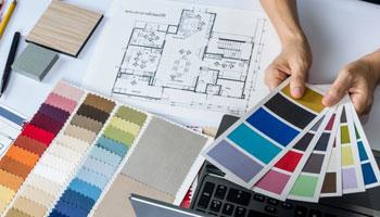 Colour Consultant showcasing samples